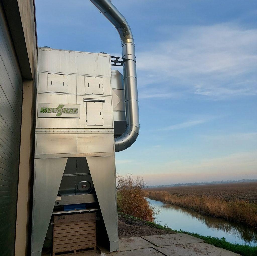 filterinstallatie met windshiftingsysteem op locatie