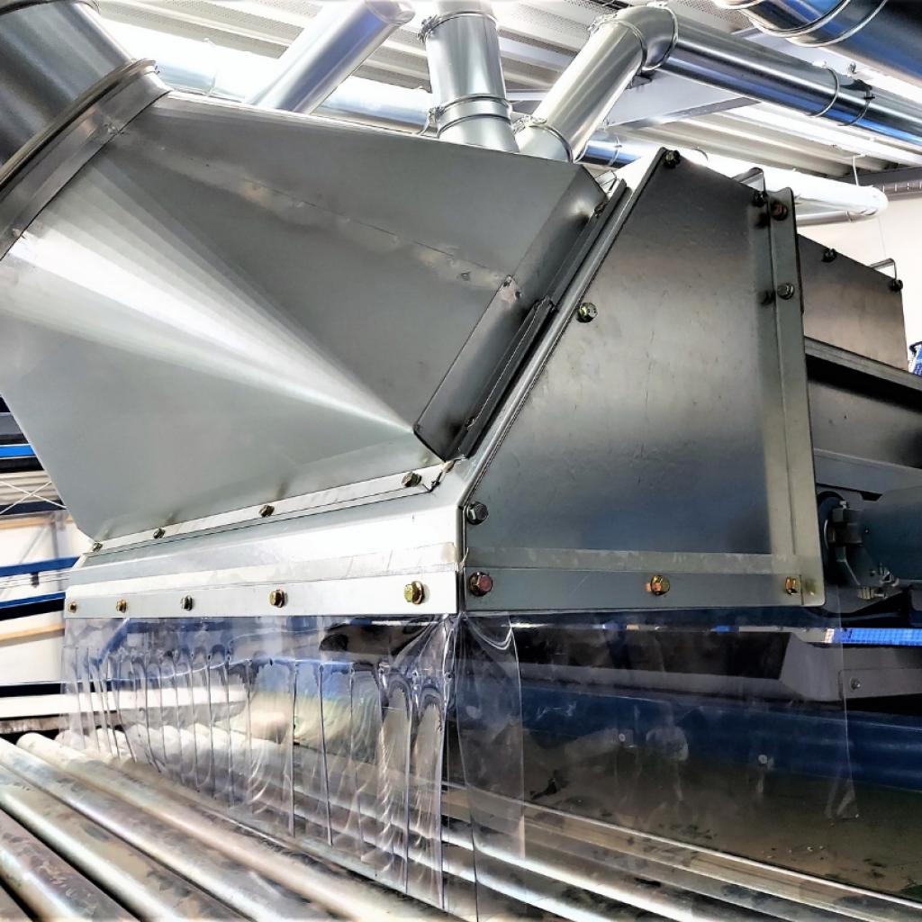 windshiftingsysteem afzuiginstallatie aardappelpootgoedteler
