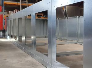 filterinstallatie bij Meconaf in opbouw