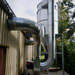 cycloonfilter voor stofafzuiging aardappelverwerking en uienverwerking